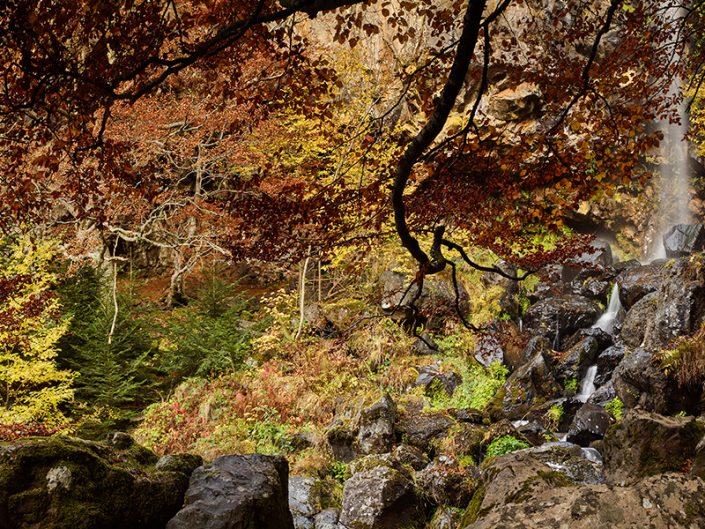 Cascade du Devez, Curière, Aveyron, Octobre