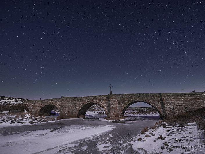 Pont de Bouquincan sur le Bès, Marchastel, Lozère, Janvier