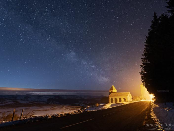 Domerie d'Aubrac sous les étoiles, Saint Chély d'Aubrac, Aveyron, février