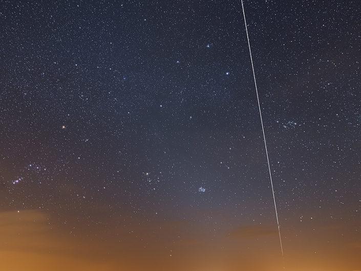 Passage de l'ISS au lac des Moines, Saint Chély d'Aubrac, Aveyron, Avril