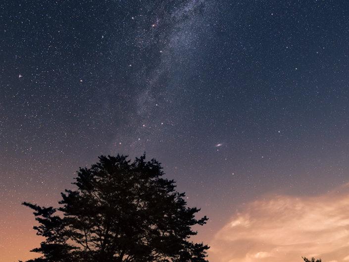 Voie Lactée vers Gudette, Saint Chély d'Aubrac, Aveyron, Août