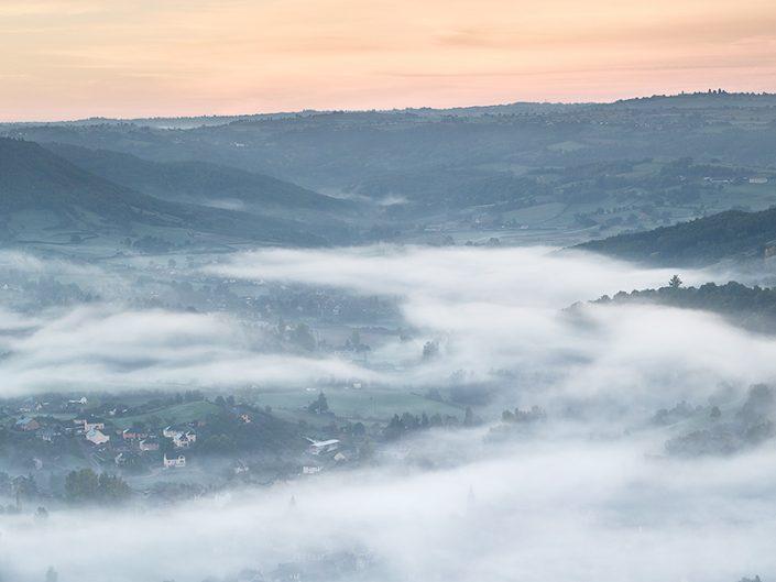 Depuis Cassagnes Comtaux, Goutrens, Aveyron, Octobre