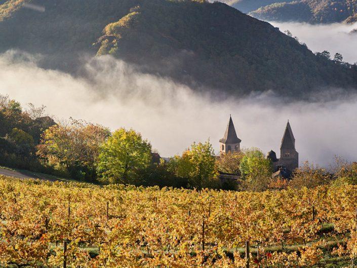 Les vignes de Conques, Aveyron, Octobre