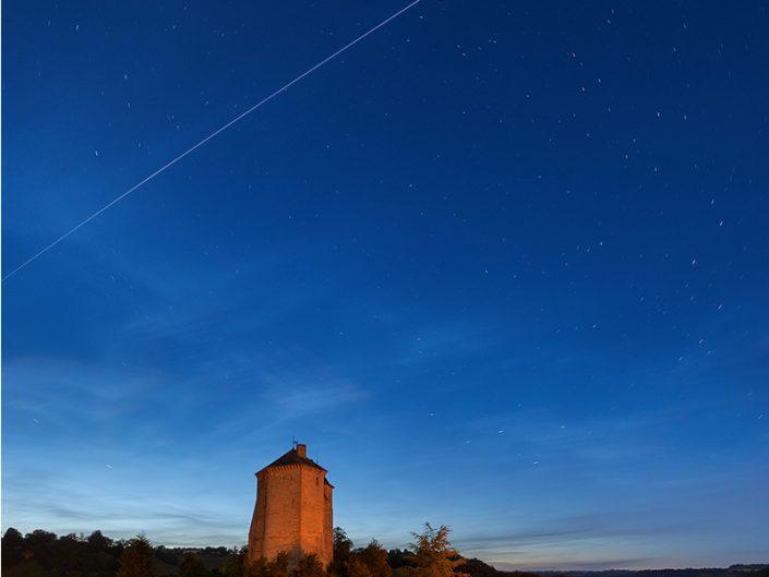 Passage de l'ISS depuis Muret le Château, Aveyron, Juin
