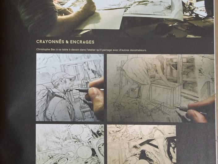 Les tourbières noires, Christophe Bec, cahier graphique