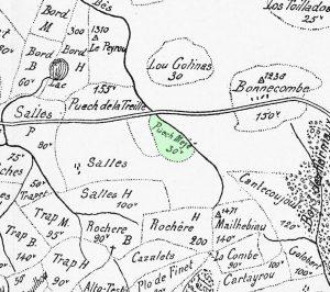 Carte du Puech Meijo