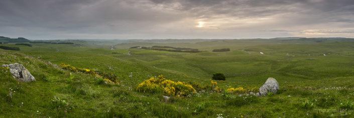 Lever de soleil depuis Places Hautes, Nasbinals, Lozère, Juin