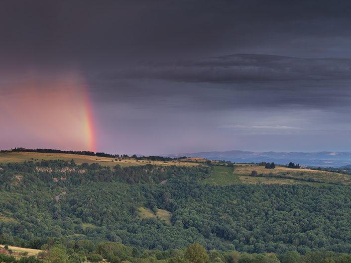 Vers les Vernhes, Saint Chély d'Aubrac, Aveyron, Juillet