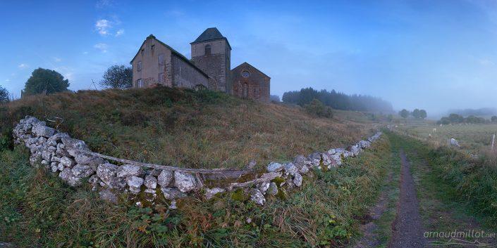 Village d'Aubrac, Aveyron, Septembre