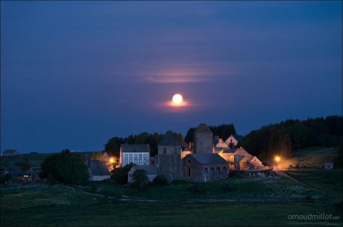 Village d'Aubrac, Saint Chély d'Aubrac, Aveyron, Juin