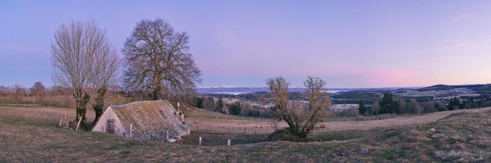 Buron de la Montagnette, Lacalm, Aveyron, Janvier