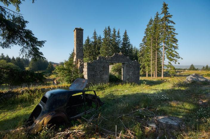 Ruines, Lozère, Juin