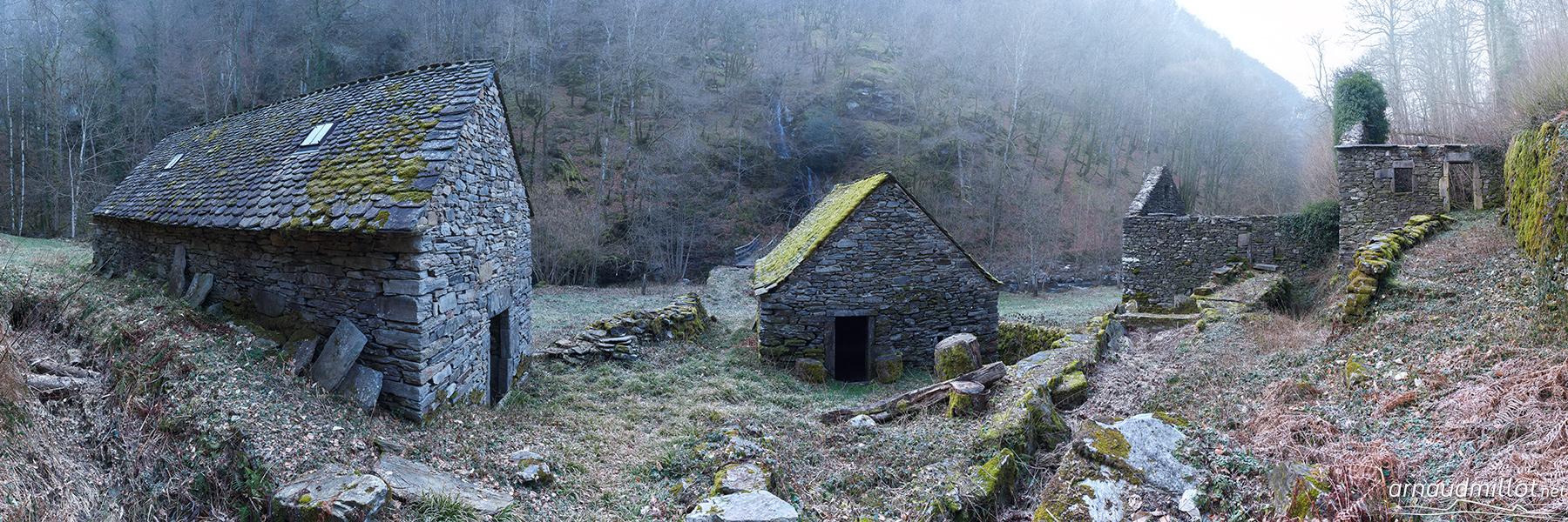 Moulin de Terral, Saint Chély d'Aubrac, Aveyron, Février