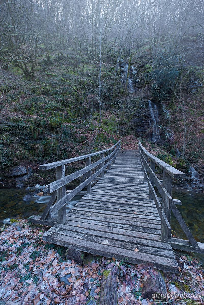 Pont du Moulin de Terral, Saint Chély d'Aubrac, Aveyron, Février