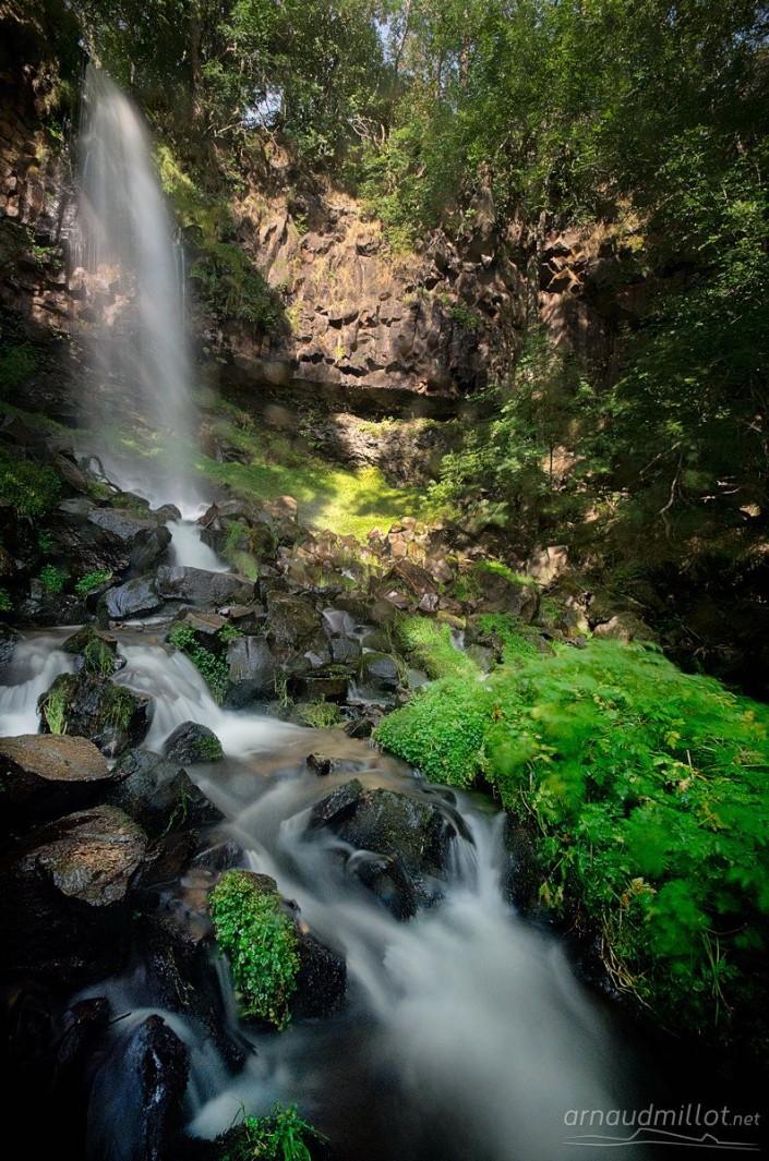 Cascade du Jiou-Jiou, Saint Urcize, Cantal, Septembre