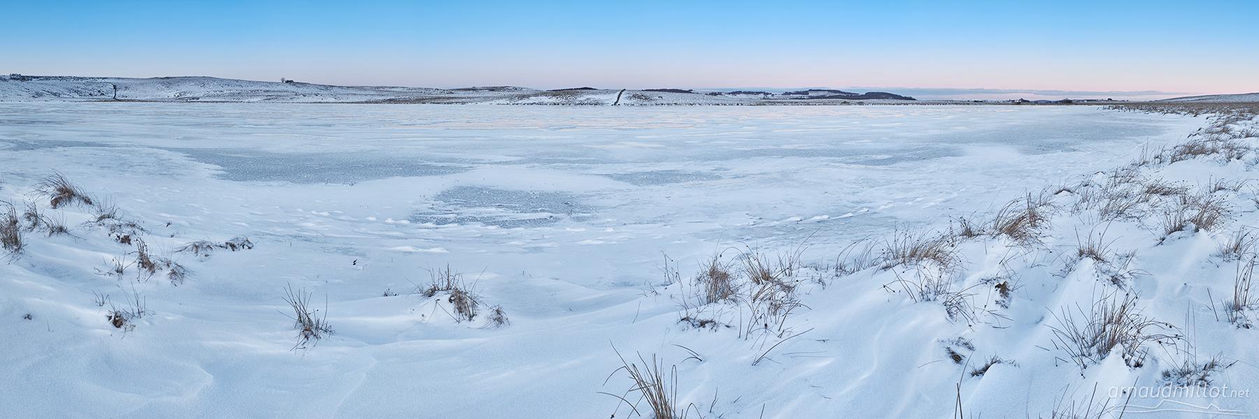 Lac de Saint Andéol, Marchastel, Lozère, Janvier