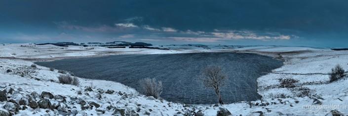 Lac de Saint Andéol, Marchastel, Lozère, Mars