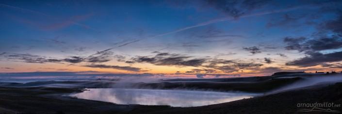 Lac de Saint Andéol avant le coucher du soleil, Marchastel, Lozère, Août