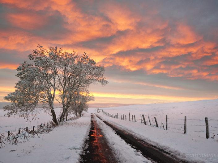 Vers la Palle, Aurelle Verlac, Aveyron, Novembre