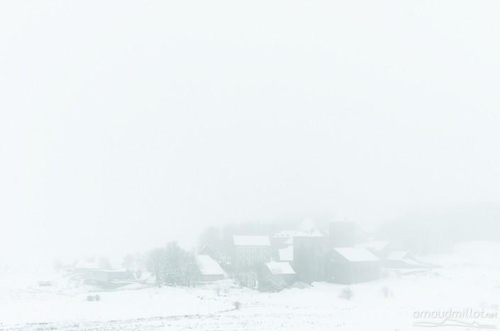 Village d'Aubrac, Saint Chély, Aveyron, Novembre