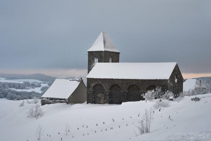 La Domerie, Saint Chély d'Aubrac, Aveyron, Janvier