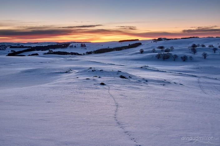 Puy de Gudette en hiver, Saint Urcize, Cantal, Aubrac
