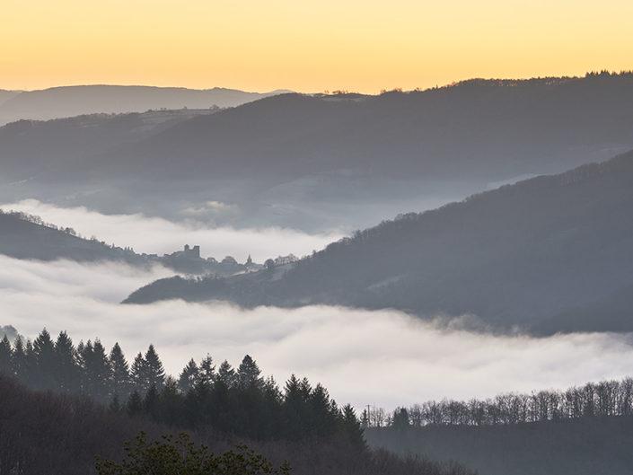 Pomayrols, Aveyron, Janvier