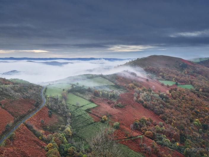 Vers Monbiau, Naves, Aveyron, Novembre