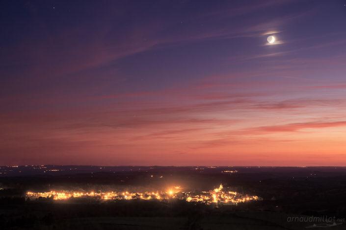 Laguiole sous la Lune, Aveyron, Septembre