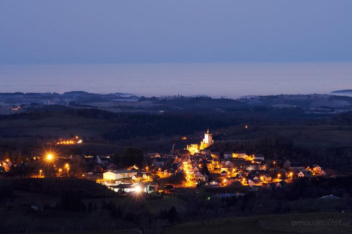 Laguiole au matin, Aveyron, Janvier