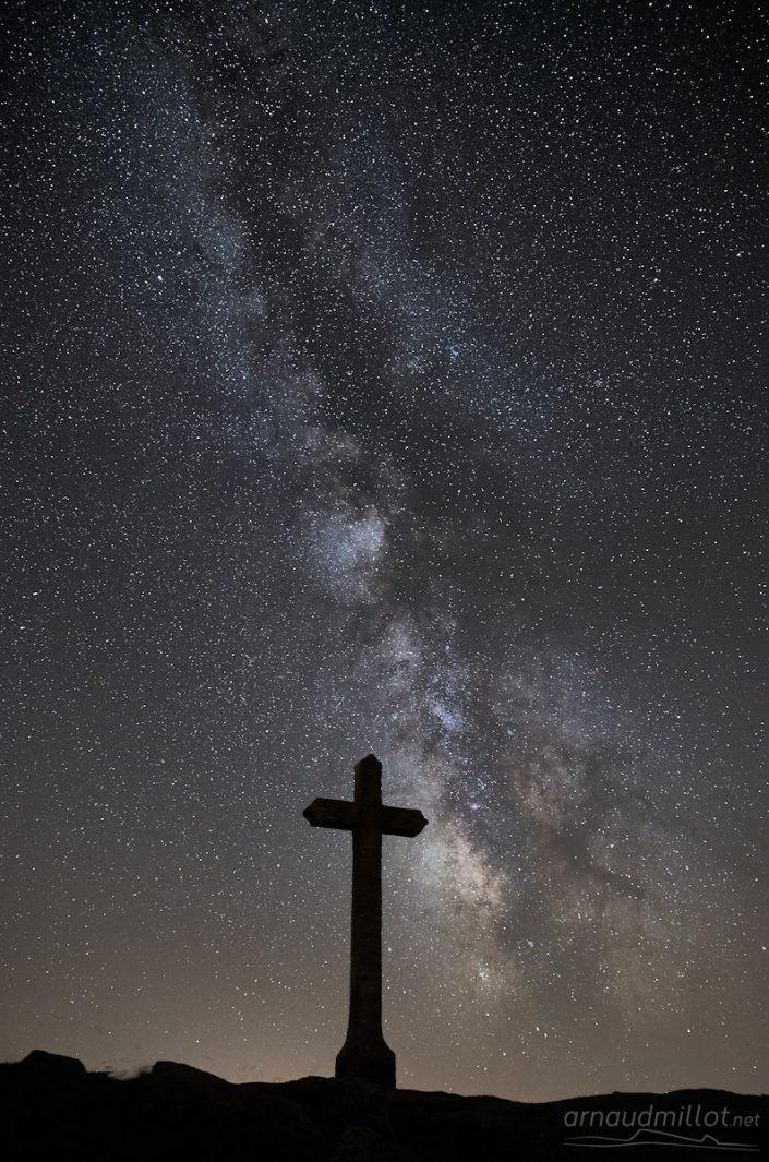 Croix du Lac de Saint Andéol, Marchastel, Lozère, Août