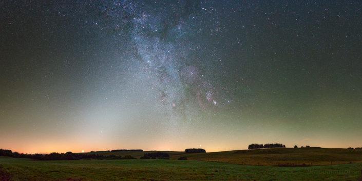 Pendouliou de Fabrègues, lumière zodiacale et Orion, Septembre