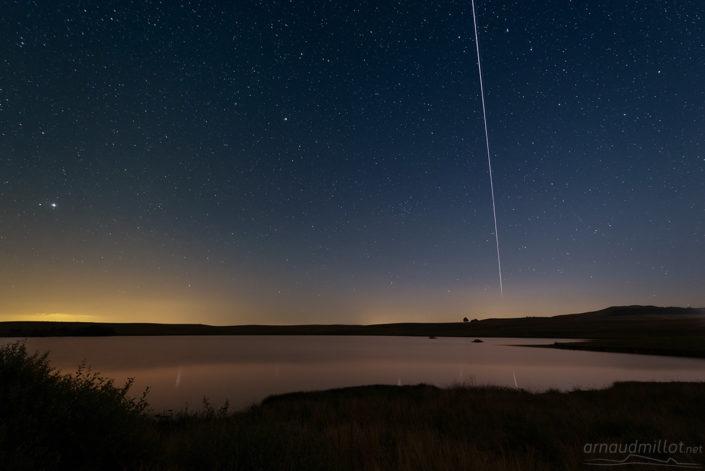 Passage de l'ISS au lac des Moines, Saint Chély d'Aubrac, Aveyron, Août