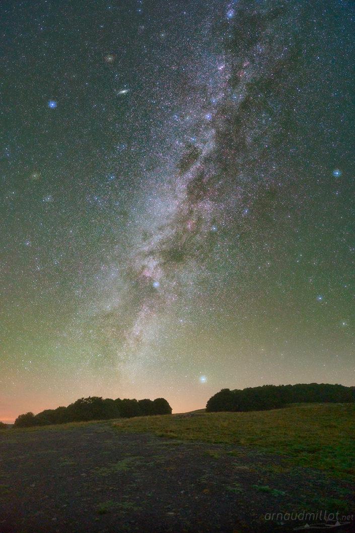 Voie Lactée au-dessus de l'Aubrac, Septembre