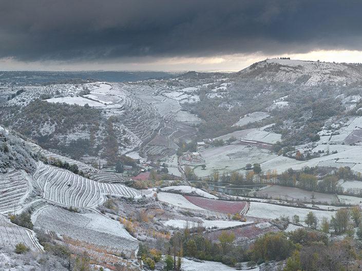 Neige sur le Vallon, Goutrens, Aveyron, Novembre