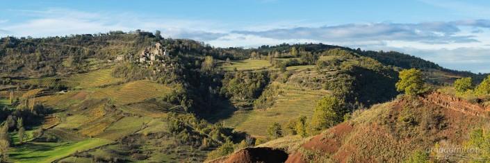 Cassagnes Comtaux depuis Panat, Clairvaux, Aveyron, Novembre