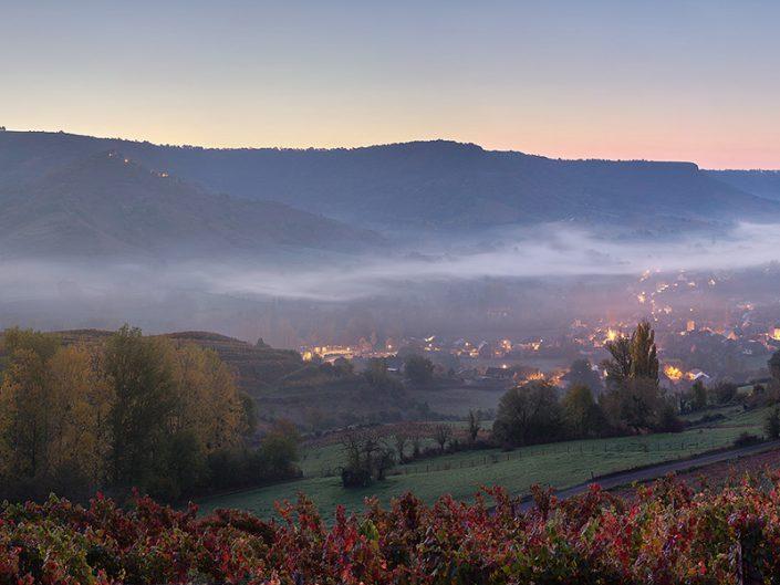 Depuis les vignes, Clairvaux, Aveyron, Octobre