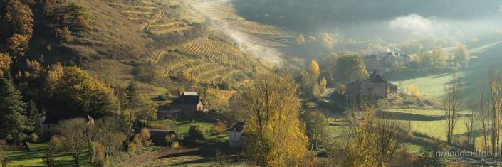 Vers Montfranc, Clairvaux, Aveyron, Octobre