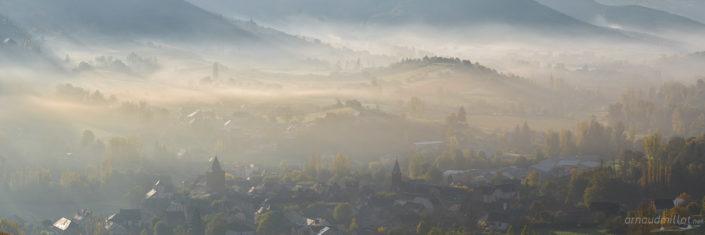 Brumes sur Clairvaux d'Aveyron, Octobre