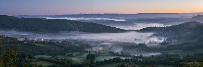 Depuis la Croix de Bel, Goutrens, Aveyron, Octobre
