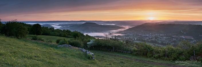 Vers Saint Christophe et Valady, Goutrens, Aveyron, Mai