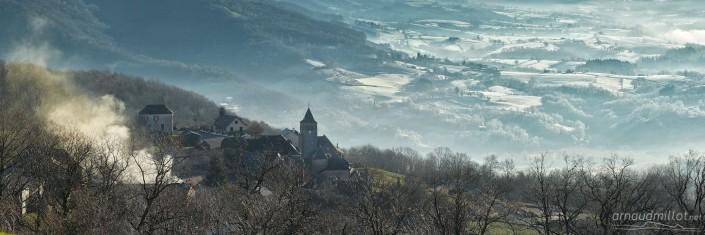 Noailhac depuis Montbigoux, Noailhac, Aveyron, Janvier