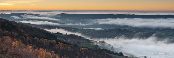 Depuis Kaymar, Pruines, Aveyron, Novembre