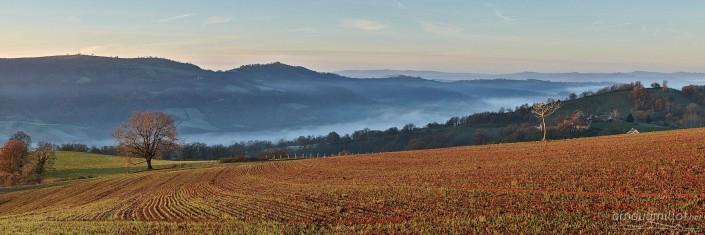 Vers Puech Banou, Pruines, Aveyron, Décembre