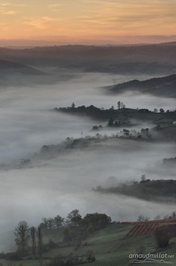 Depuis Cassagnes, Goutrens, Aveyron, Novembre