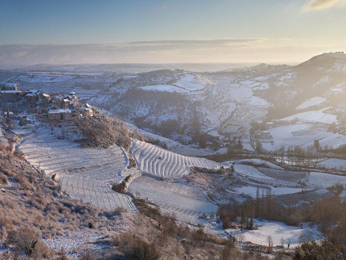 Cassagnes Comtaux, Bruéjouls, Aveyron, Février