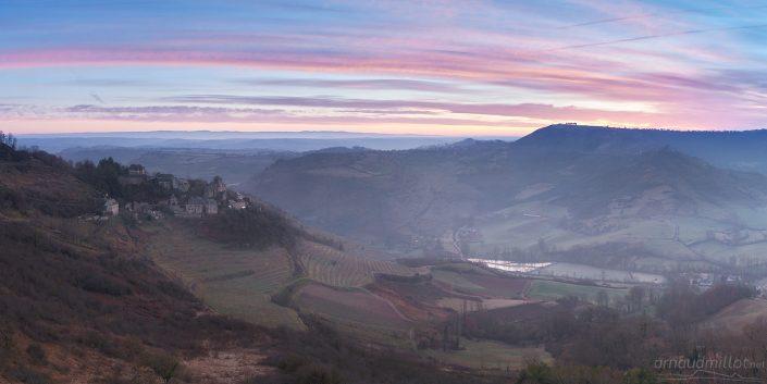 Cassagnes Comtaux, Goutrens, Aveyron, Février