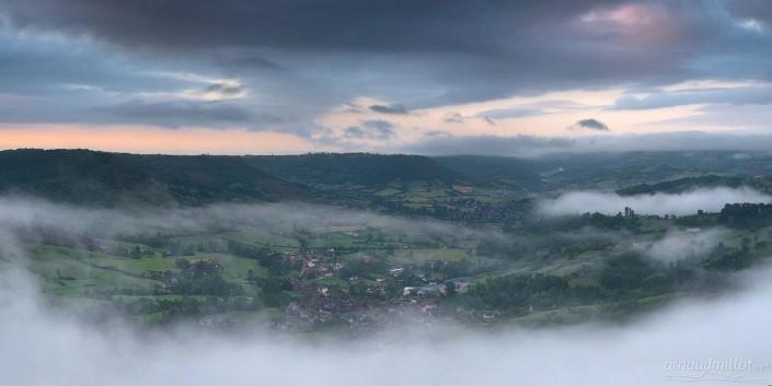 Vue sur Clairvaux, Goutrens, Aveyron, Octobre