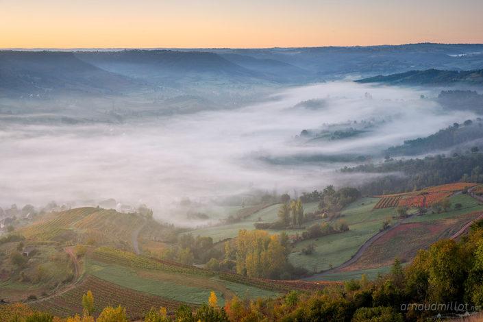 Vers Clairvaux d'Aveyron, Octobre