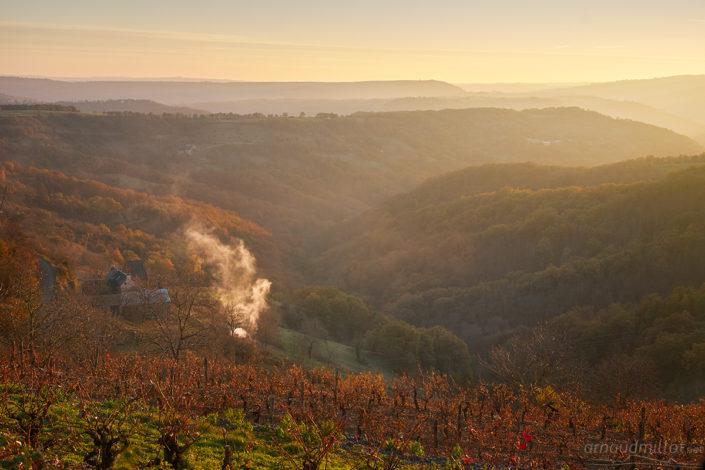 Depuis Gipoulou, Mouret, Aveyron, Novembre
